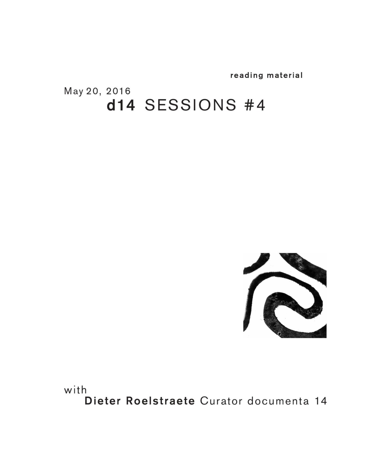 Membrane d14 SESSIONS #4 with Dieter Roelstraete, Curator documenta 14